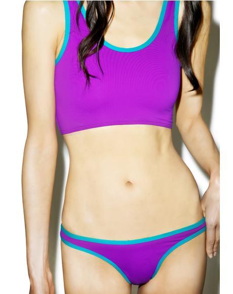 Purple Sport Swim Bottom