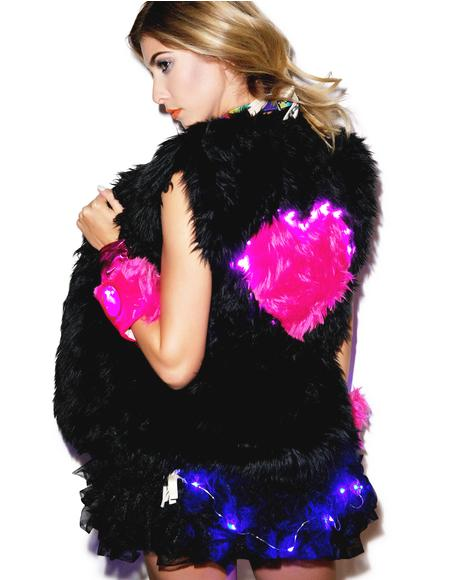 Heart Beat Light Up Long vest