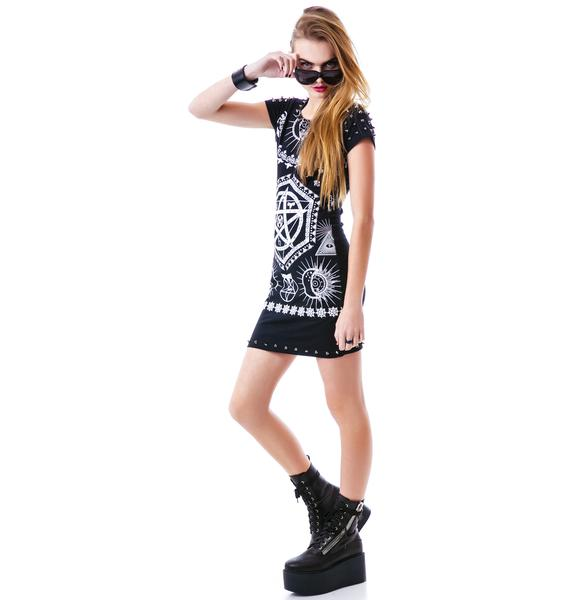 Symbolism Studded Dress