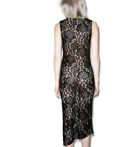 Killstar Skeletor Lace Maxi Dress