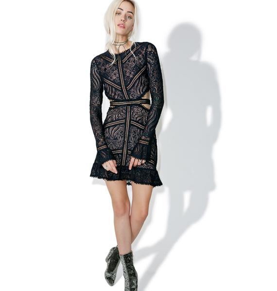 For Love & Lemons Shadow Emerie Cut Out Dress