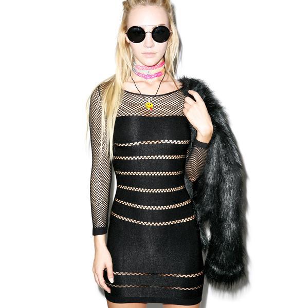 Vantablack Mistress Bodycon Dress