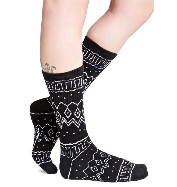 40s & Shorties Baja Crew Socks