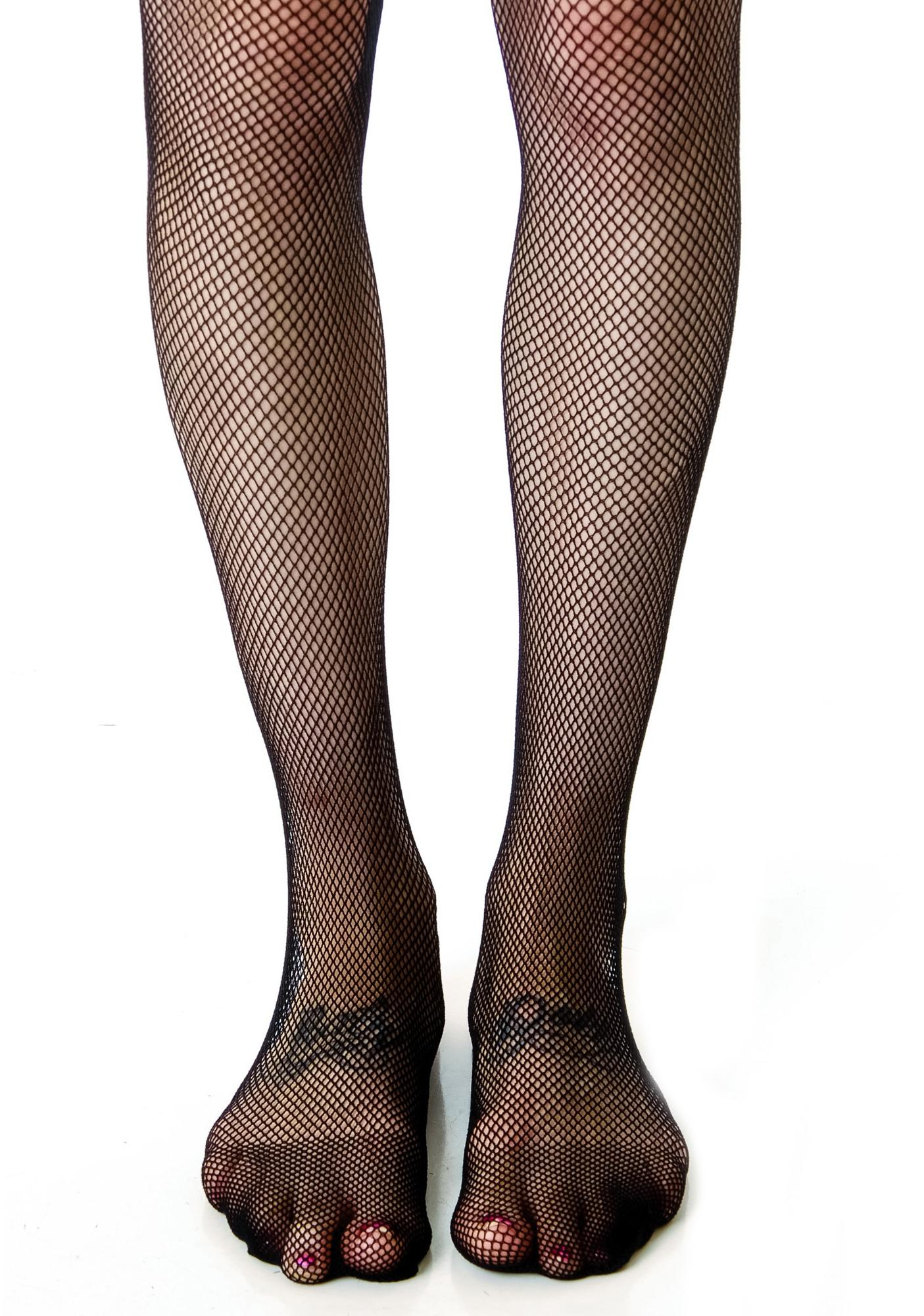 Lip Service Fishnet Back Seam Tights