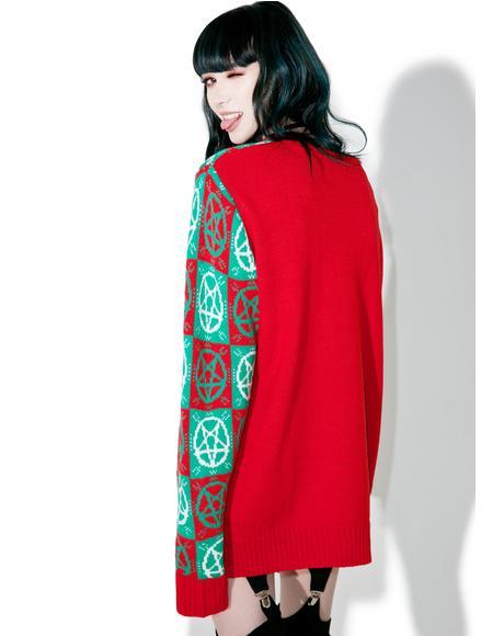 Evil Argyle Sweater
