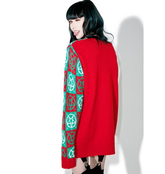 Current Mood Evil Argyle Sweater