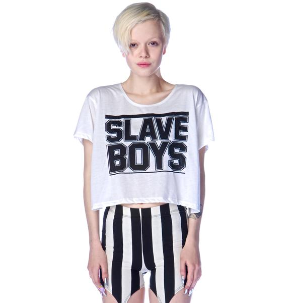 Obesity and Speed Slave Boy Crop Tee