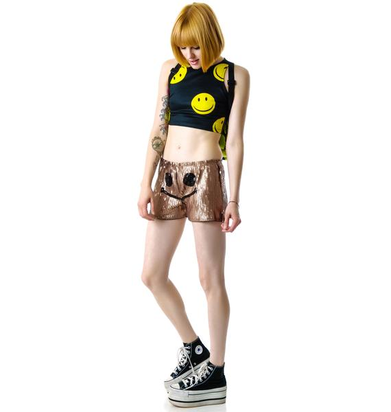 Alix Smiley Sequin Shorts