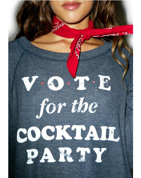 Happy Hour Vote Monte Crop Sweater