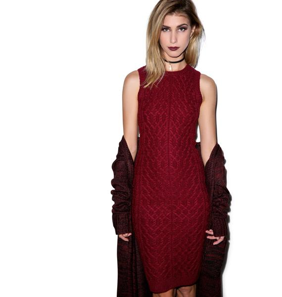 For Love & Lemons Snow Day Pencil Dress