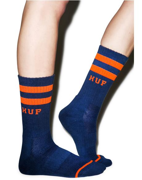 2 Stripe Crew Socks