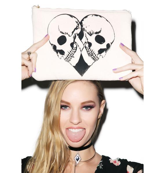 Lauren Moshi Skull Heart iPad Clutch