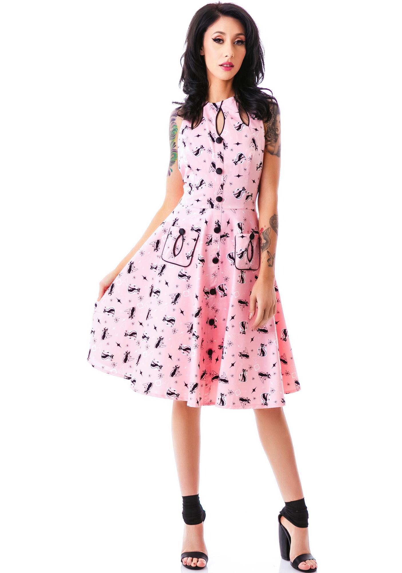 I Want You Meow Kitty Dress