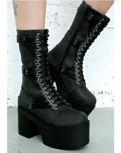 Straight Laced Leather Boots