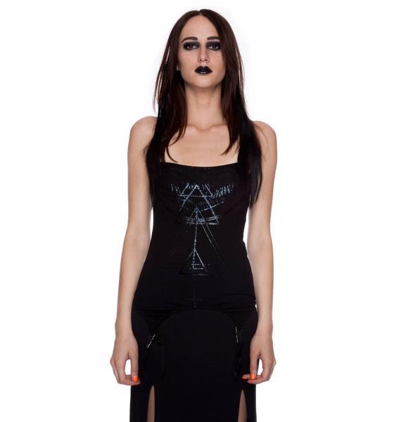 Widow Witch House Rib Garter Clips Cami