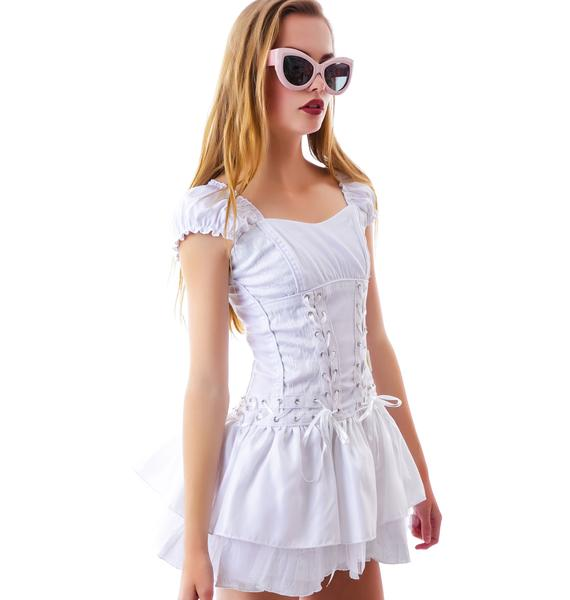 Tripp NYC Brocade Corset Dress