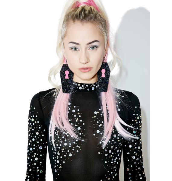 Marina Fini Glitter Coffin Earrings