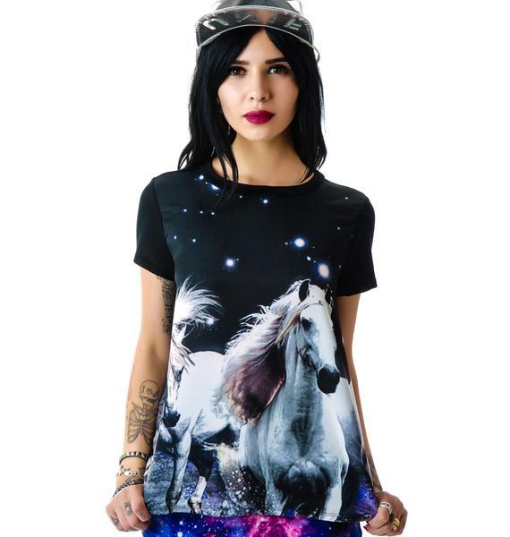 Wild Horse Space Galaxy Tee