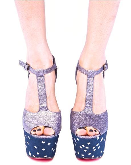 Starry Night Super Platform Shoes