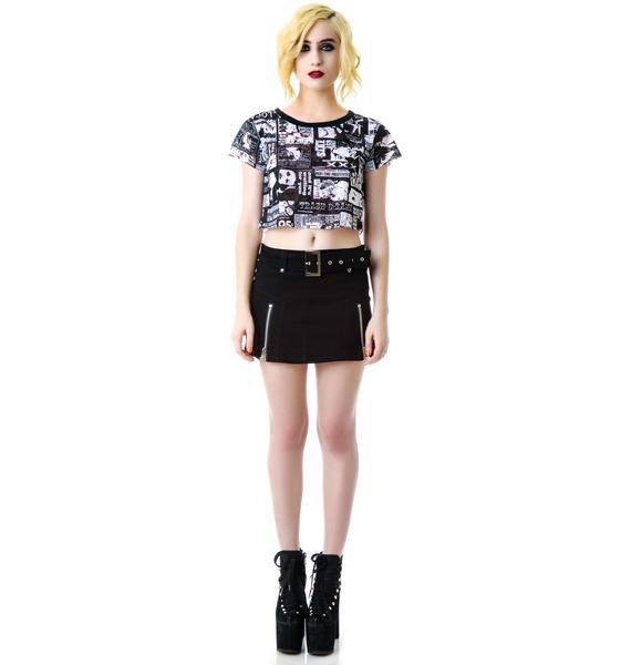 Daemona's Zipper Mini Skirt