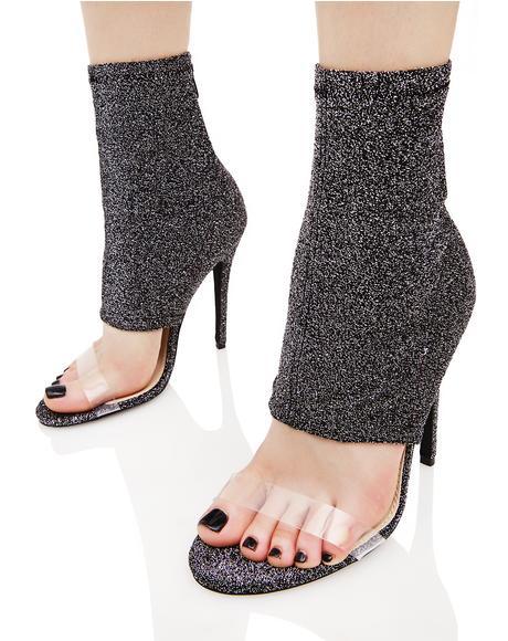 Ishani Sock Fit Perspex Strap Shoe Boot