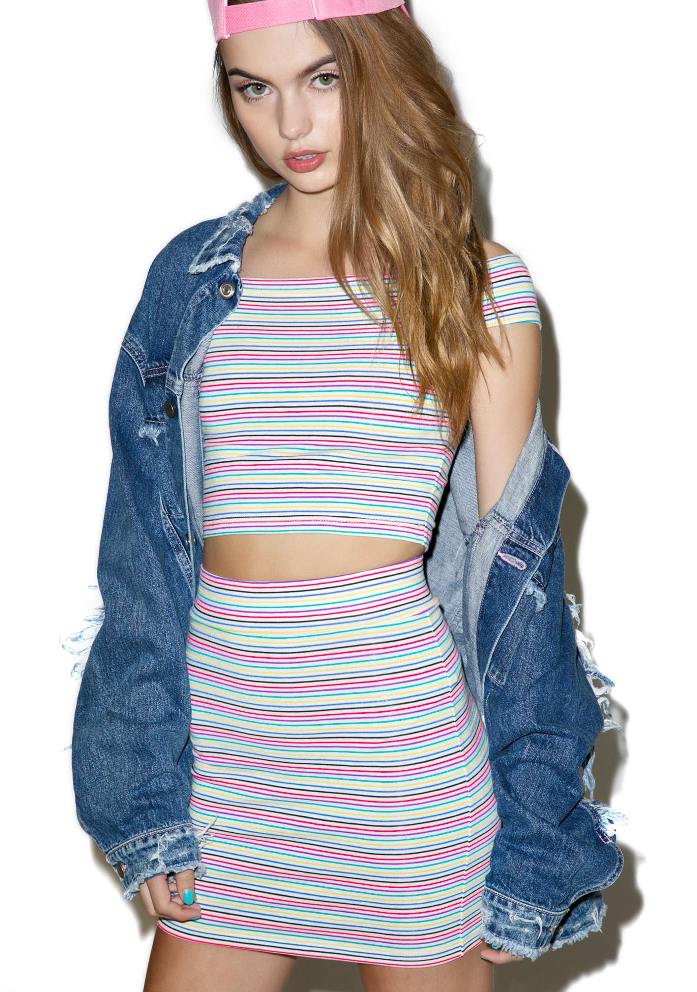 Rainbow Dreams Mini Skirt