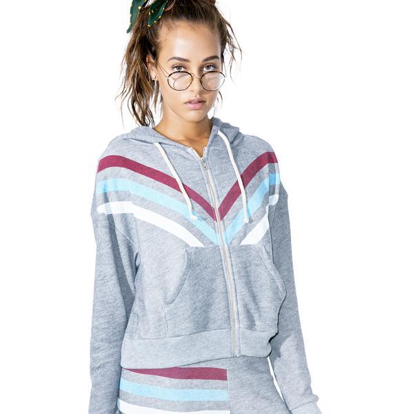 Wildfox Couture Tri Stripe Milk Run Hoodie