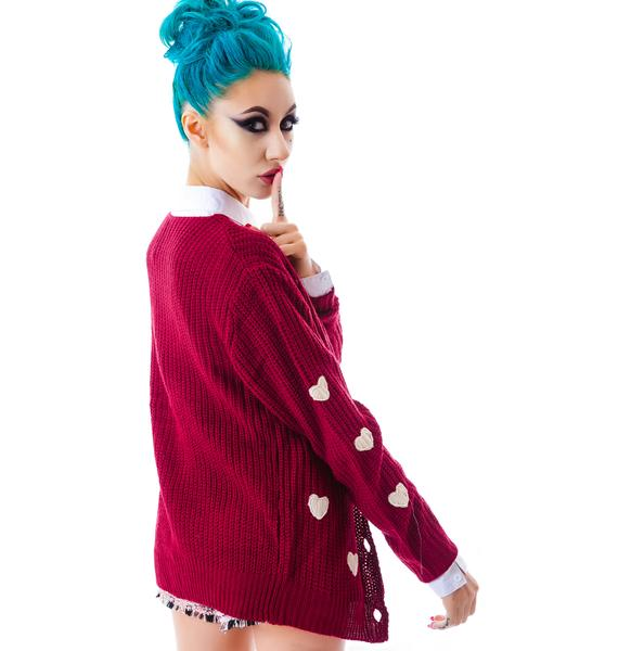 Sweet Hearts Cardigan