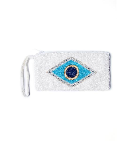 Evil Eye Beaded Wristlet