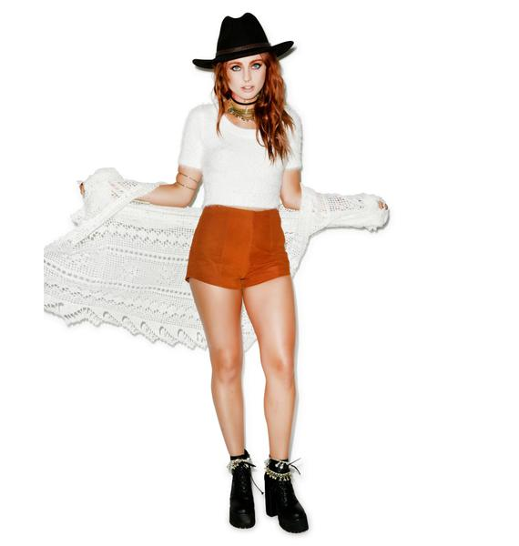 American Apparel Fuzzy Wuzzy Cropped Tee