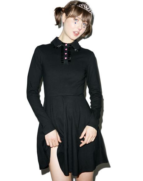 Heart Button Polo Dress