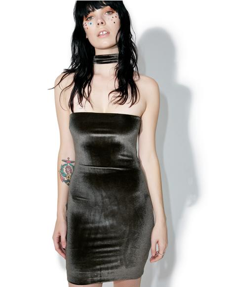 Velvet Body Talk Mini Dress