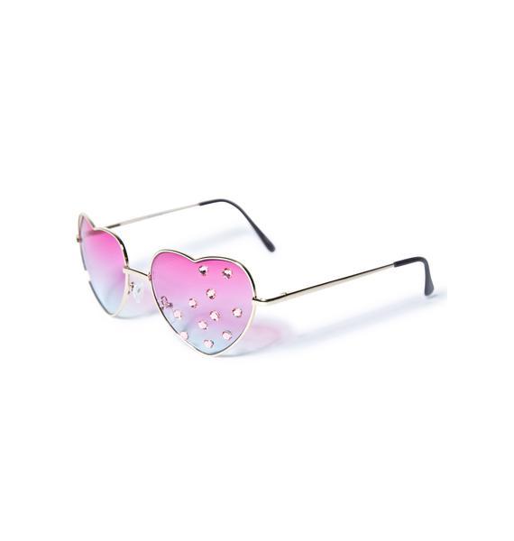 Gasoline Glamour Pamela Heart Sunglasses