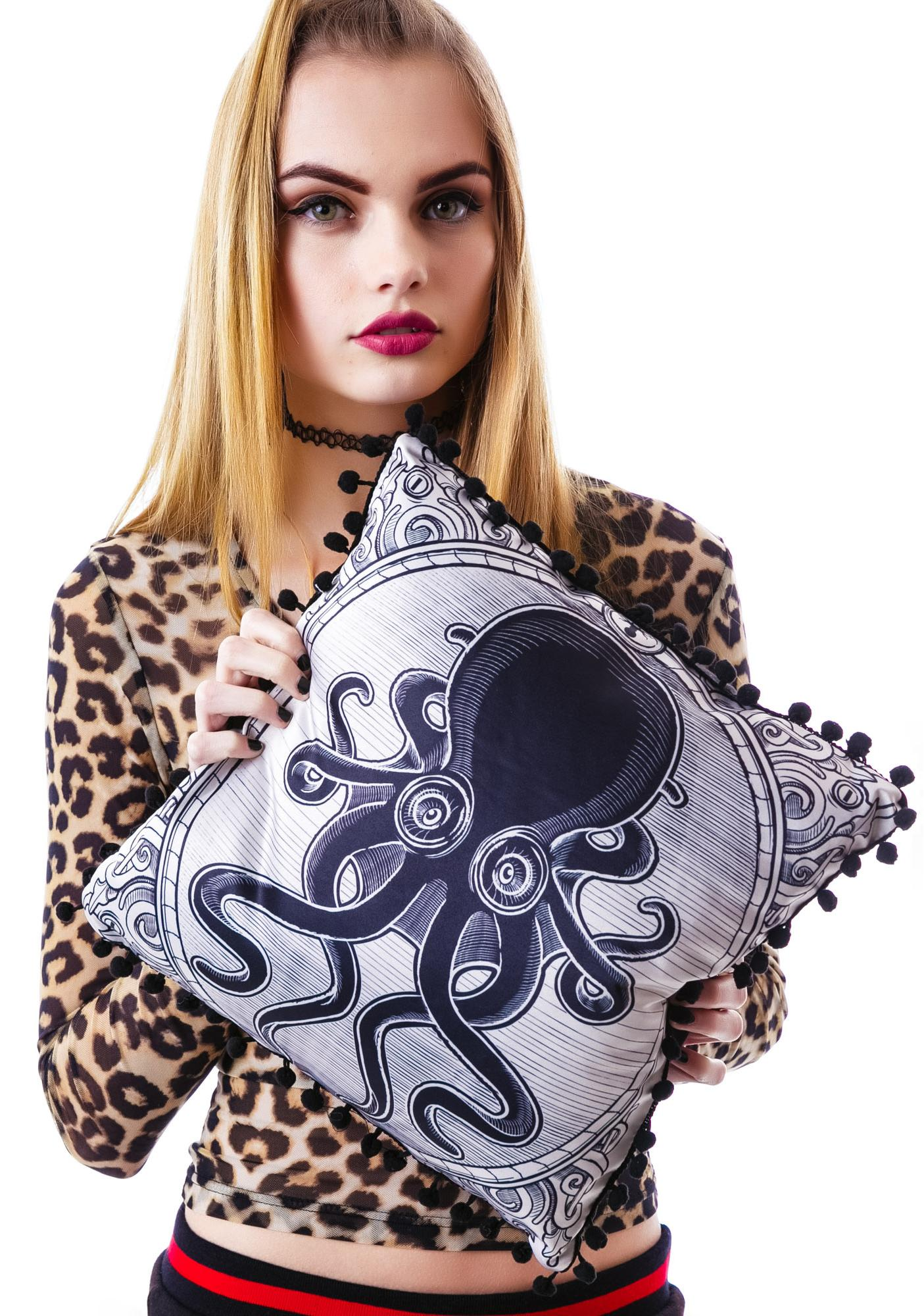 Sourpuss Clothing Kraken Up Pillow