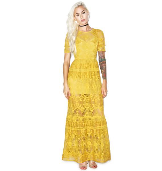 For Love & Lemons Sienna Maxi Dress