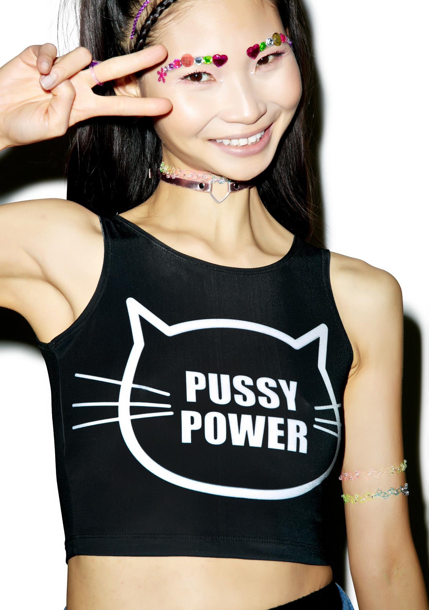 Twisted Bitches Pussy Power Crop Top