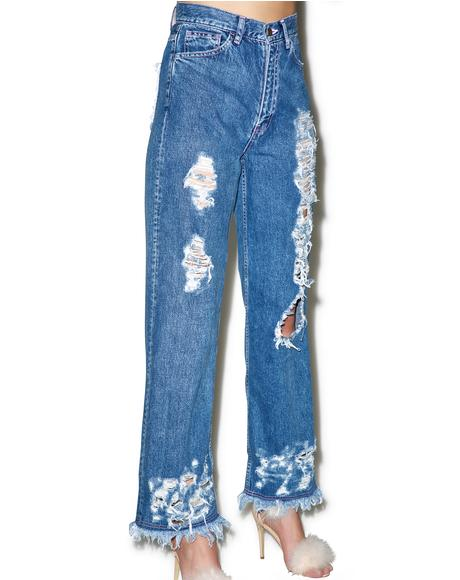 Damaged Denim Jeans