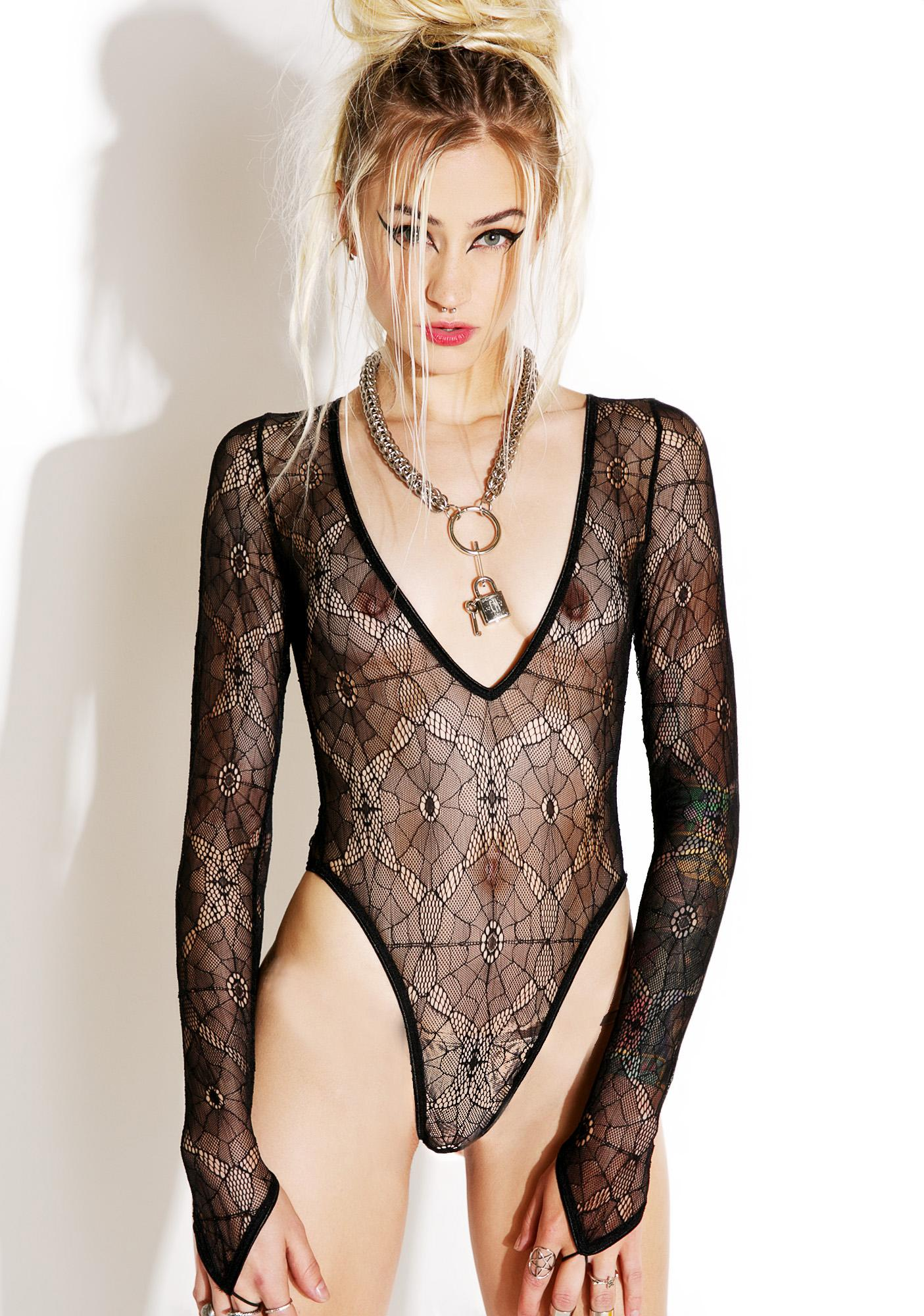 Current Mood Salvation Lace Bodysuit