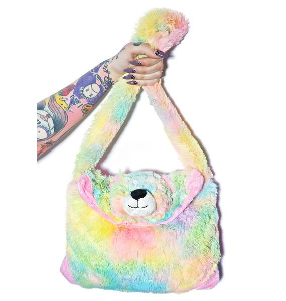 Pillow Pets Rainbow Bear Purse