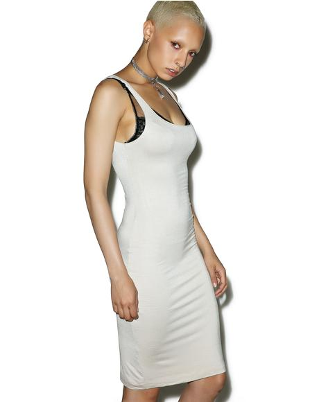 Back Slit Tank Midi Dress
