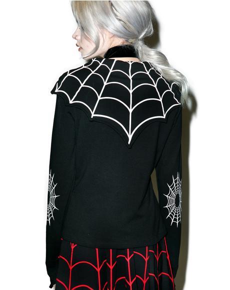 Spiderweb Bat Flap Jacket