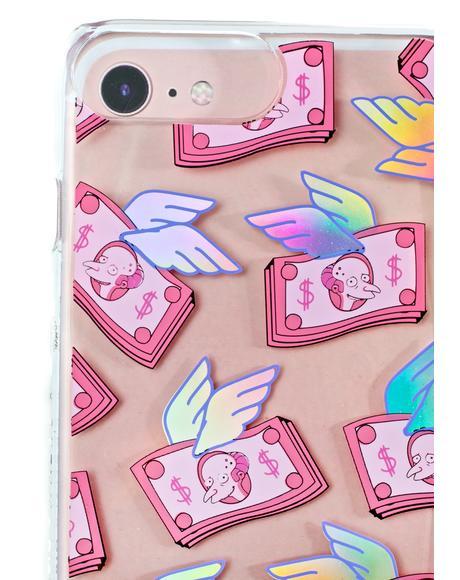 Mr. Burns Flying Money iPhone Case
