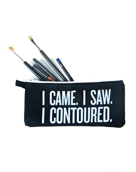 I Came I Saw Makeup Bag
