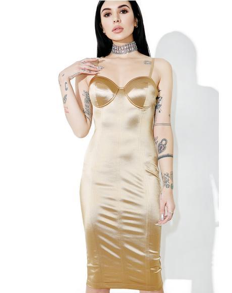 Trophy Wife Satin Dress