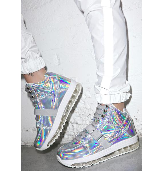 Y.R.U. Qozmo Aiire Light Up Hologram Sneakers