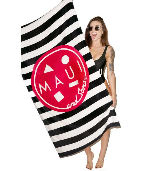 Maui and Sons Striped Cookie Towel