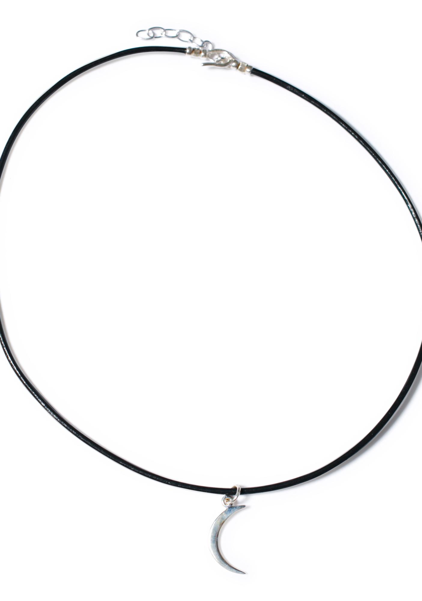 Sterling Silver Crecent Moon Choker