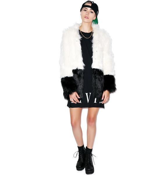 Civil Clothing Sharon Two Tone Faux Fur Coat