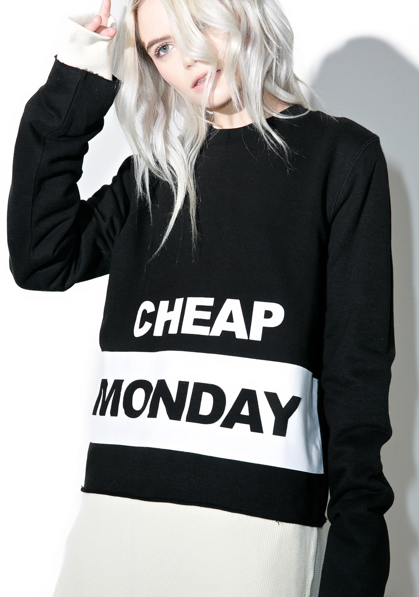 Cheap Monday Coach Block Logo Sweat