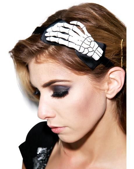 Skeleton Hand Alice Band